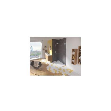 Receveur KINESURF 120 x 90 4 cm bondé petit côté blanc