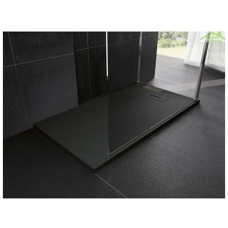 Receveur NOVOSOLID extra-plat - Dimensions : 120 x 90 cm - Rectangulaire - Blanc