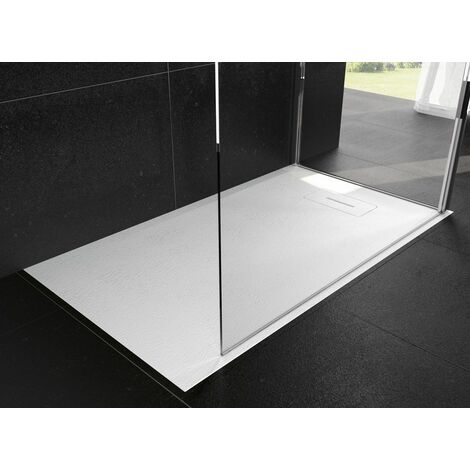 Receveur NOVOSOLID extra-plat - Dimensions : 140 x 90 cm - Rectangulaire - Blanc