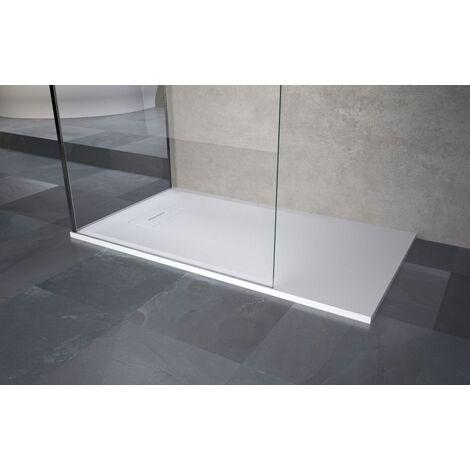 Receveur NOVOSOLID extra-plat - Dimensions : 90 x 90 cm - Carré - Blanc