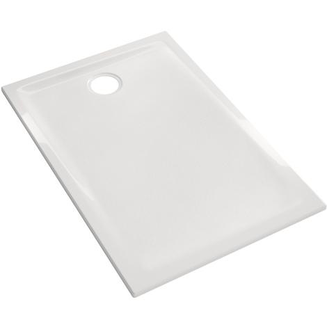 Receveur Prima 140x80x4.5cm - Geberit - Blanc - à poser et/ou à encastrer