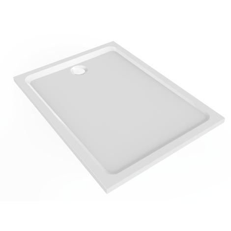 Receveur Prima Style Marbrex Antigliss - Geberit - 160x90cm - à poser et/ou à encastrer - Blanc