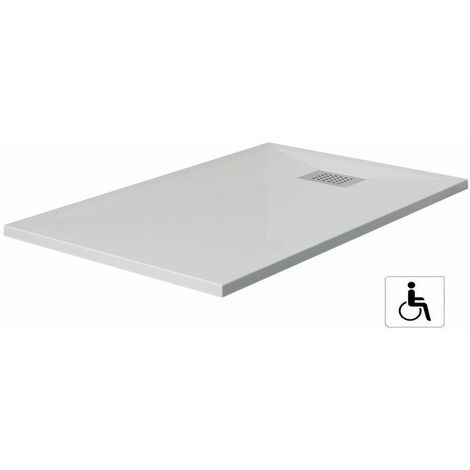 Receveur rectangle Kinesurf Blanc antidérapant extra-plat