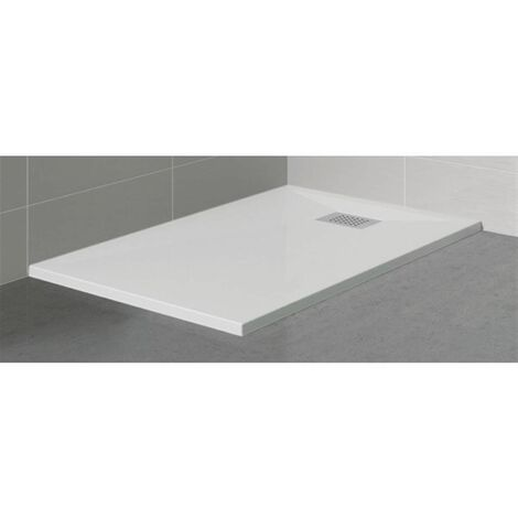 Receveur rectangle Kinesurf Blanc extra-plat