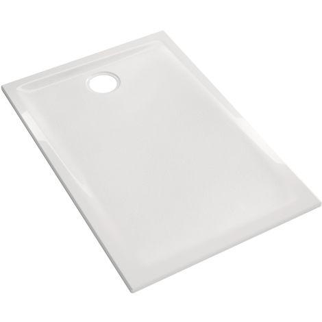 Receveur Renova ultra-plat à encastrer - 100x90x4.5cm - Geberit - Blanc - Avec traitement antigliss PN18