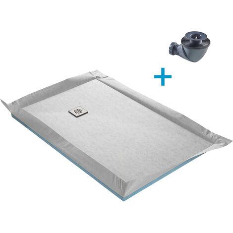 Receveurs à carreler standard avec natte d'_tanch_it_ pr_ mont_e grille inox et siphon à 360° - 4 cm d'_paisseur