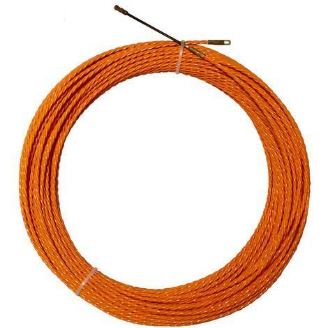 Rechange aiguille en polyester torsadée Ø 5,2 mm L 60 M sans dévidoir + 2 embouts, une tête flexible et un oeillet