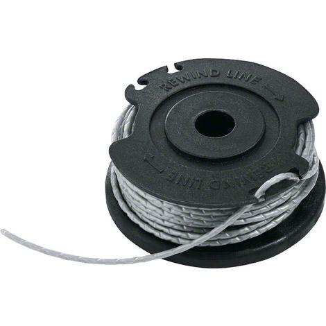 Recharge bobine de fil Bosch - Accessoire pour coupe-bordures ou pour tondeuse de fil (4m de longueur et 1mm de ? )