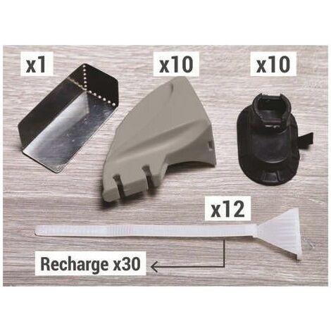 Recharge de 30 languettes pour kit de serrage de plinthes Fixpress