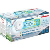 Recharge galet pour absorbeur d'humidité 500g x4 Action 2 en 1