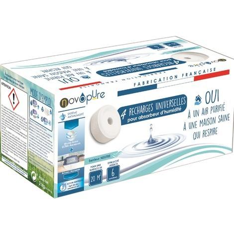 Recharge galet pour absorbeur d'humidité 500g x4 Neutre