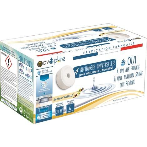 Recharge galet pour absorbeur d'humidité 500g x4 Vanille