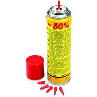 Recharge gaz butane 135g REF 10051 pour chalumeau cuisine et briquets livrée avec 6 adaptateurs de recharge