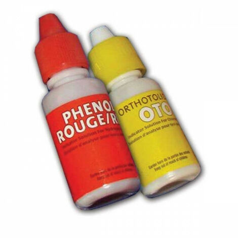 Recharge pour trousse d'analyse ph chlore piscine - 20 ml