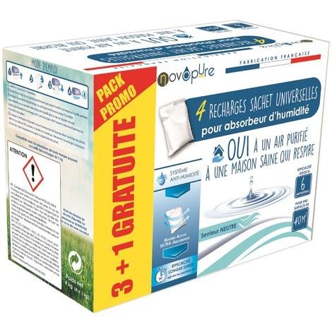 Recharge sachet pour absorbeur d'humidité 1kg 3+1 gratuit Neutre