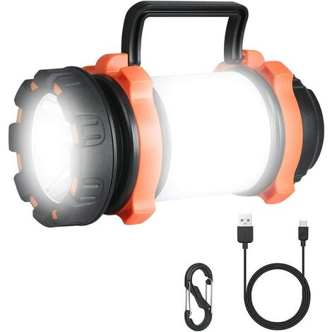 Rechargeable LED Lantern, 1000 Lumens Torch Light, Portable Projector Camping Light, Ultra Powerful, 6 Modes Camping Light, USB Cable Included, IPX4 Waterproof, [Energy Class A +]
