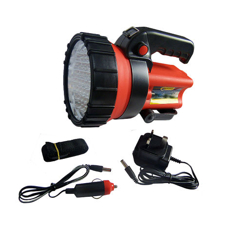 Rechargeable LED Torch Work Light Spotlight Lantern 37 LED 12v Charger Incl