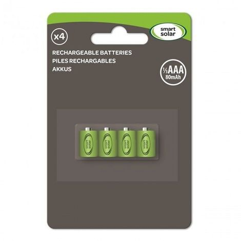Rechargeable Smart 1/3 AAA Batteries 4 Pack