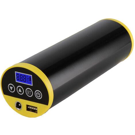Rechargeable voiture numerique des pneus Pompe Compresseur d'air portable Mini Air gonfleur main Held pneus Pompe a LED LCD Digital Light, noir