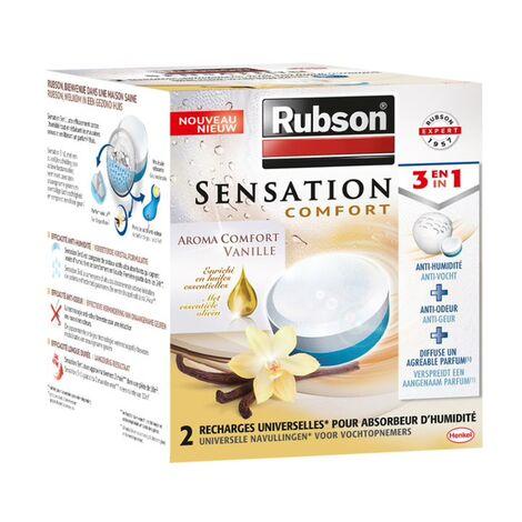 Recharges absorbeur d'humidité Rubson Sensation Vanille 2x300gr