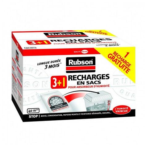 Recharges en sacs pour absorbeur Classic de Rubson x4