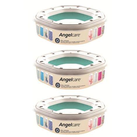 Recharges poubelle Dress Up Ocotogonales Angelcare Lot de 3