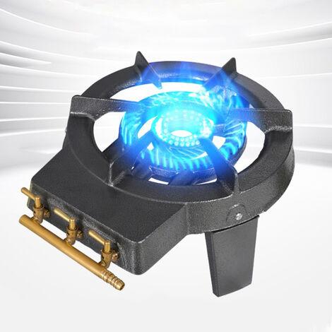Réchaud à gaz tripatte en fonte\Réchaud en fonte- 3 feux - 3 pieds - 8100 W – Noir