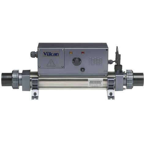 Réchauffeur piscine digital vulcan titane 6 kw mono pour piscines volume maximum 40 m³