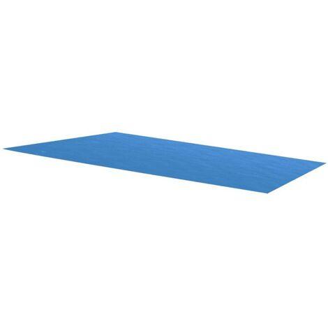 Rechteckige Pool-Abdeckung PE Blau 300 x 200 cm VD32112
