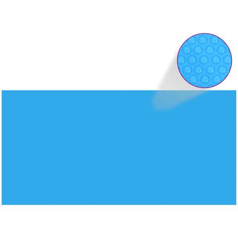 Rechteckige Pool-Abdeckung PE Blau 450 x 220 cm