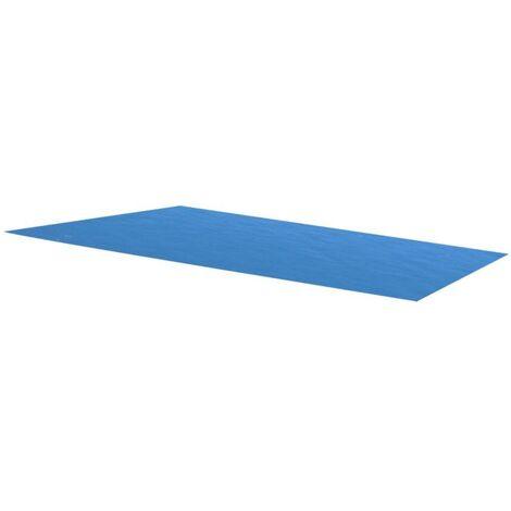 Rechteckige Pool-Abdeckung PE Blau 450 x 220 cm VD32113