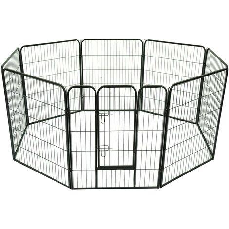 Recinto Modulare Per Animali Domestici 8 Pezzi 80x100 Cm Riotti
