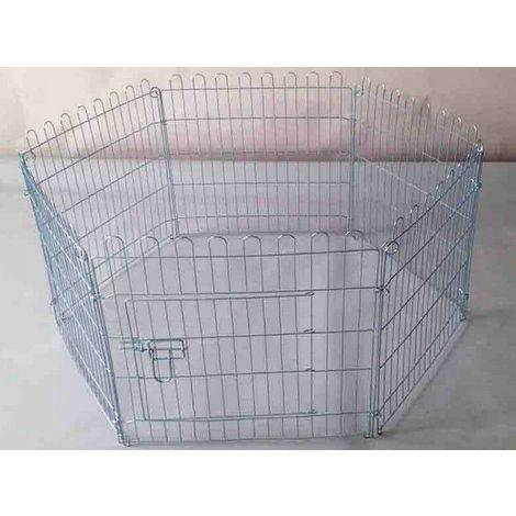 Recinto per cani gatti cuccioli 8 pannelli altezza cm76