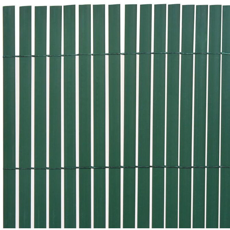 Recinzioni Per Giardino In Pvc.Recinzione Da Giardino A Doppio Lato In Pvc 150x500 Cm Verde