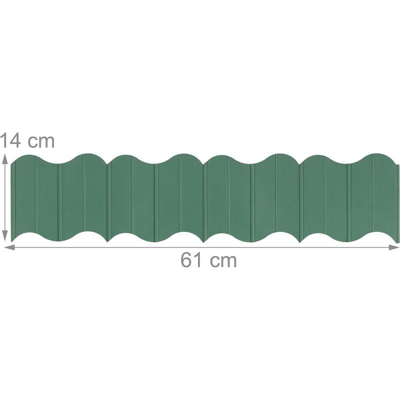 Delimitazioni E Recinzioni In Plastica.Recinzione Da Giardino In Plastica 6 Bordature Fissaggio Nel Terreno Delimitazione Aiuole H 12 5cm Verde