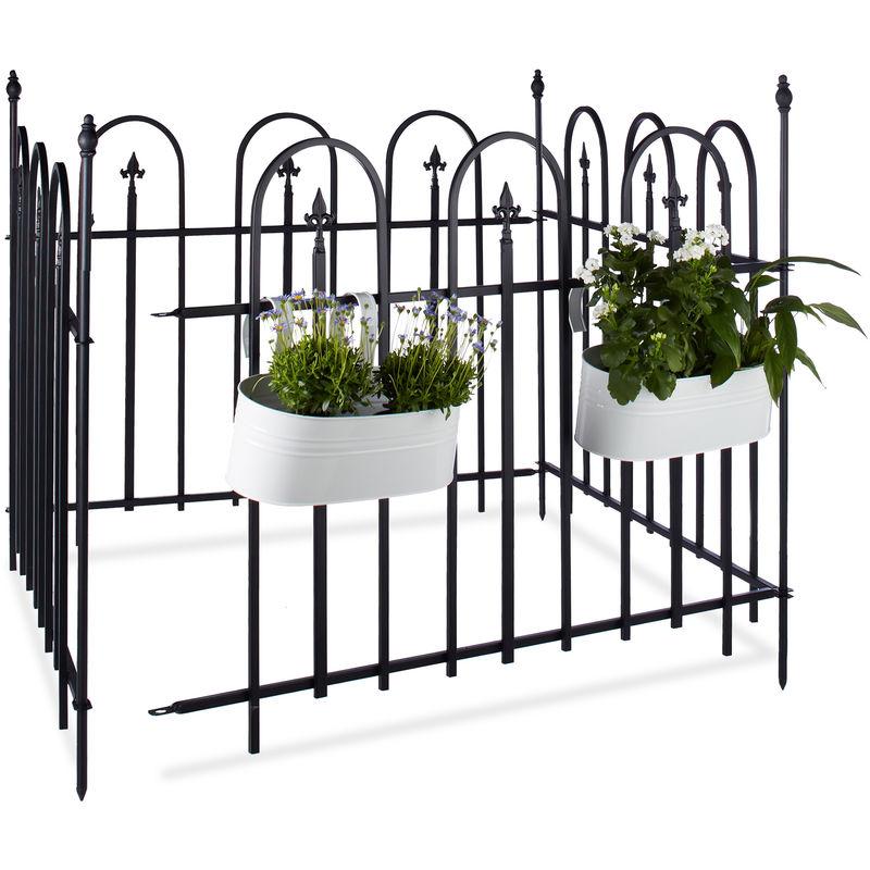 Recinzione Giardino In Ferro.Recinzione Da Giardino Metallo Gotico Set Completo 4 8 M Recinto