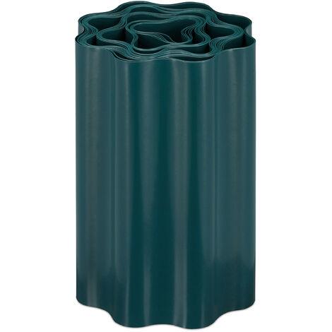 Recinzione Flessibile, Bordura per Aiuola in Plastica, Bordatura per Giardino, 20x900cm, Verde