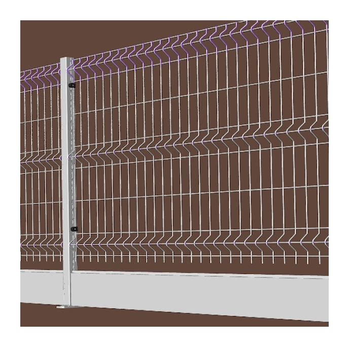 Rete Per Recinzione Altezza 2 Metri.Recinzione In Rete Elettrosaldata Con Alzata In Alluminio Fornitura A Pannelli Di Lunghezza 2 Metri