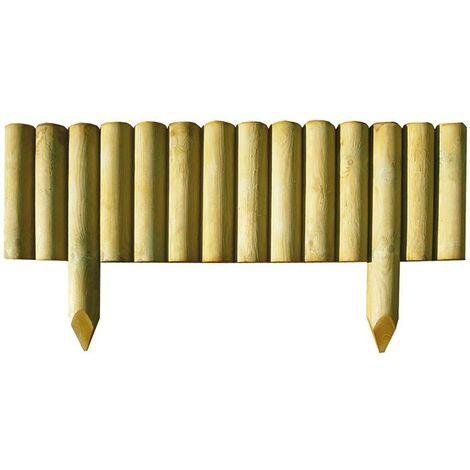 Recinzione lasa steccato legno impregnato bordura 55x5x15 for Recinzione legno giardino
