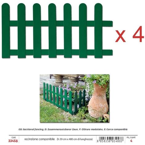 Recinzioni Per Giardino In Cemento.Recinzione Per Giardino Componibile Verde L 4 8 Cm 5 1000056155