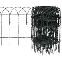 Recinzione per Giardino in Ferro Verniciato a Polvere 10x0,4 m