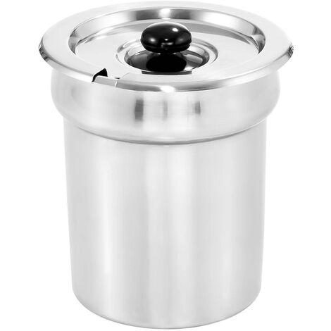 Recipient Gn Bac Gastro Inox Pour Bain Marie Couvercle Soupe Sauces 2 75 Litres