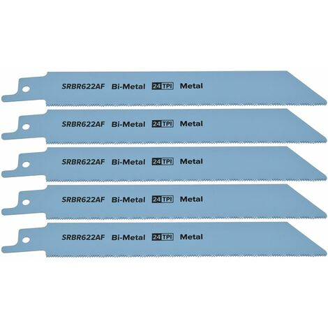 Reciprocating Saw Blade Metal 150mm 24tpi Bi Metal Pack of 5