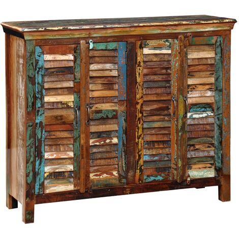Reclaimed Cupboard Solid Wood with 4 Doors