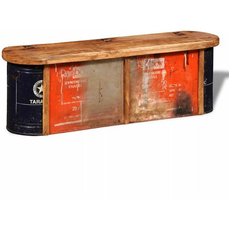 Reclaimed Solid Wood Sideboard Storage Bench QAH08871