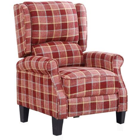 Recliner Chair Single Sofa Fabric Armchair 102X61X66cm