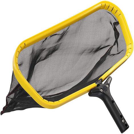 Recogedor de rastrillo de hojas de red con desnatador de piscina con bolsa de desnatado de malla profunda, limpiador de agua para piscina, banera de hidromasaje, fuente de estanque