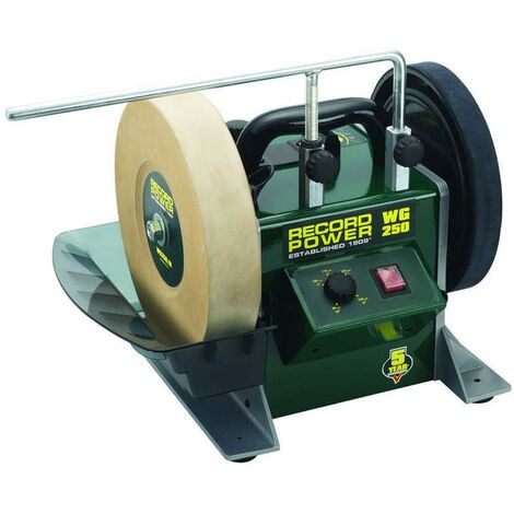 "RECORD WG250-PK/A 10"" Wet Stone Sharpening System"