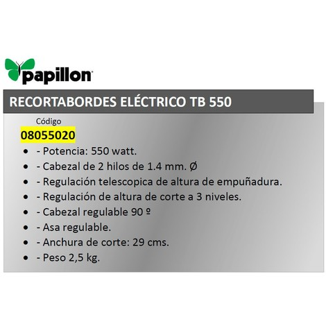 Recortabordes Electrico Papillon Tb 550 550 W - NEOFERR..