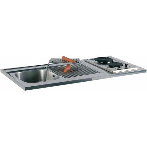 Recouvrement SPIRIT PLANSPIRIT1200E, 120 x 60 cm, avec table de cuisson électrique, plan en titachrome, réf. 092866